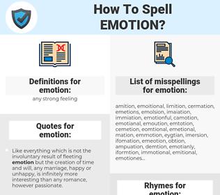emotion, spellcheck emotion, how to spell emotion, how do you spell emotion, correct spelling for emotion