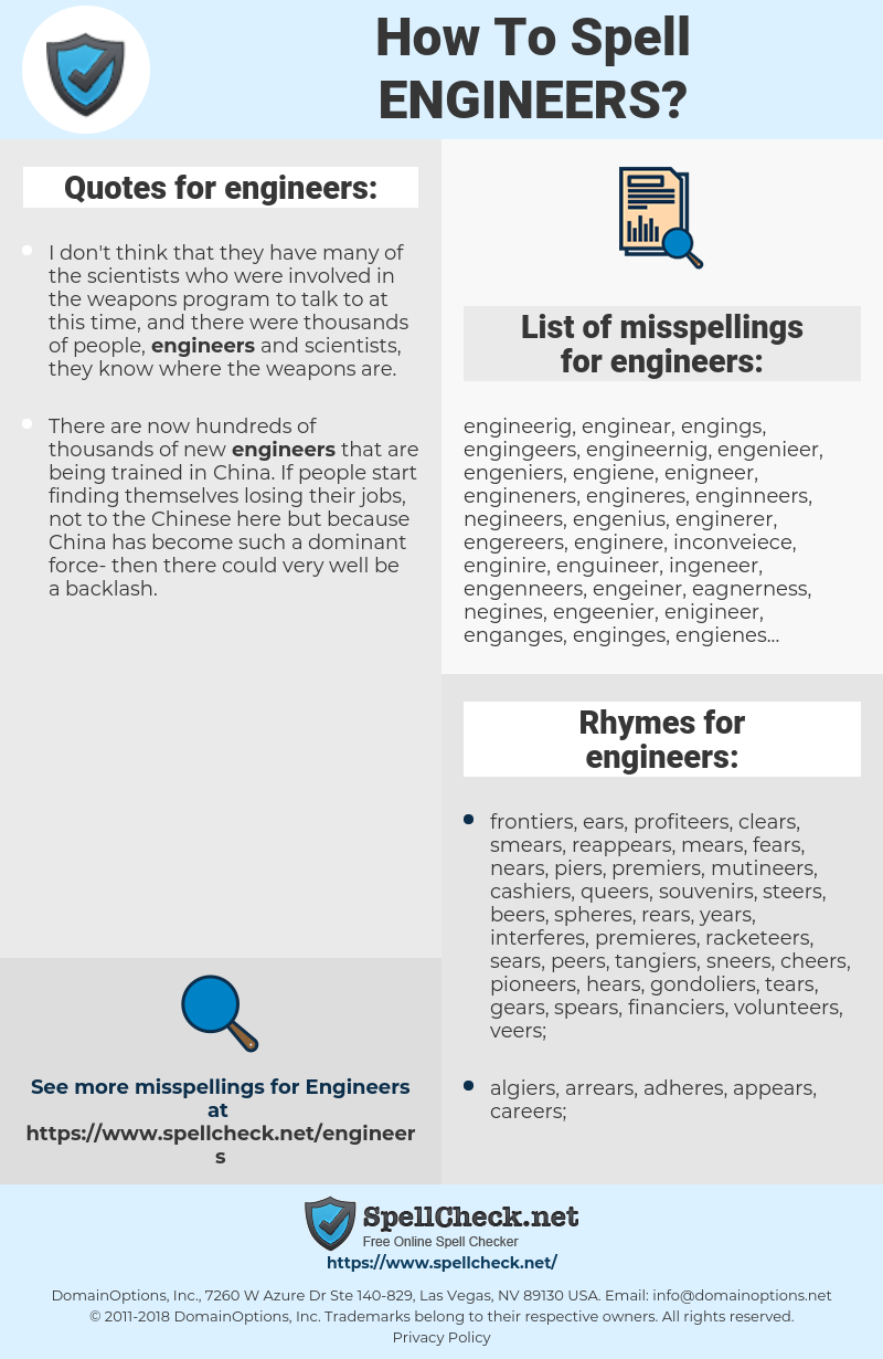 engineers, spellcheck engineers, how to spell engineers, how do you spell engineers, correct spelling for engineers