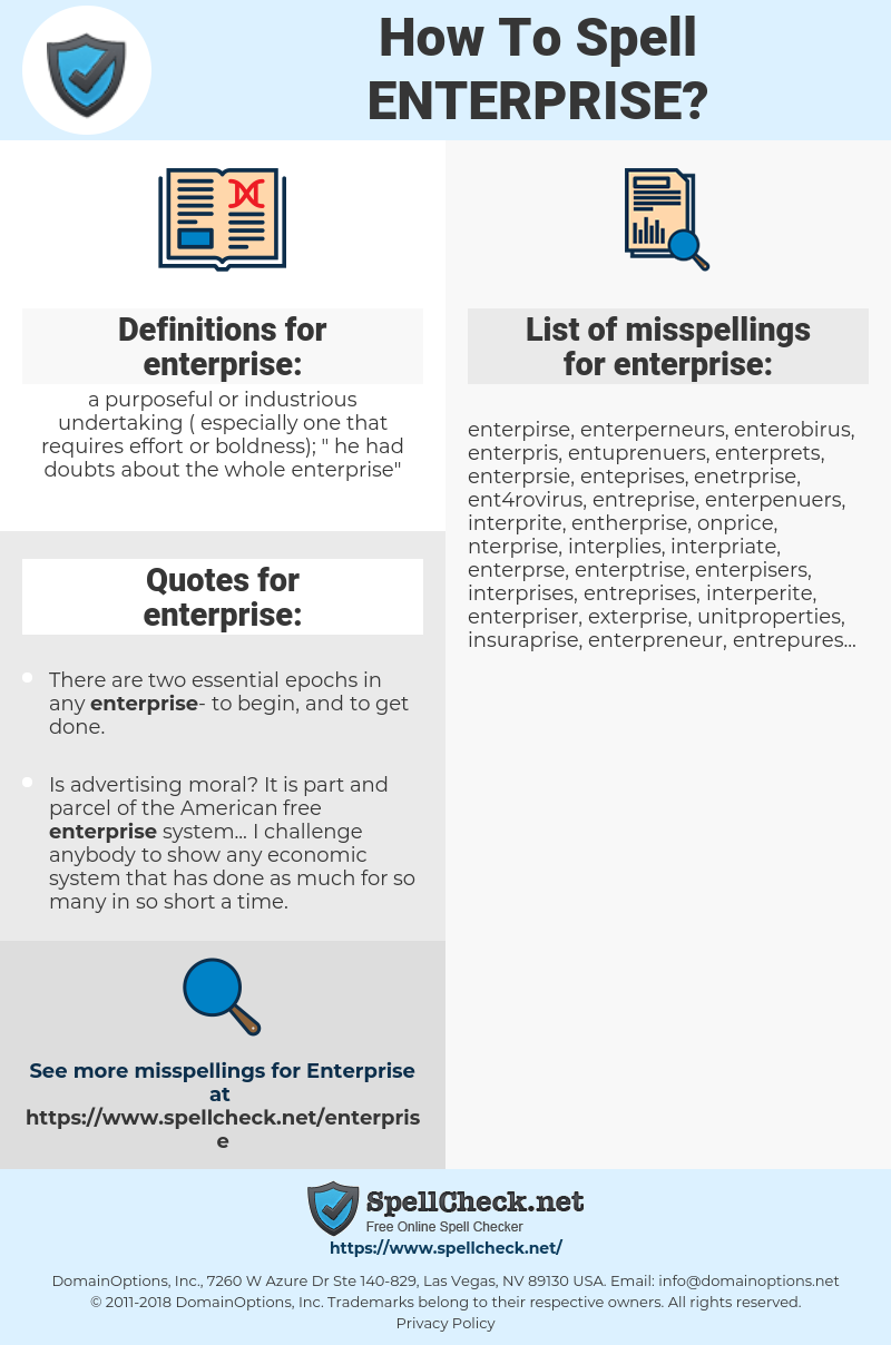 enterprise, spellcheck enterprise, how to spell enterprise, how do you spell enterprise, correct spelling for enterprise