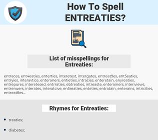 Entreaties, spellcheck Entreaties, how to spell Entreaties, how do you spell Entreaties, correct spelling for Entreaties