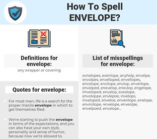 envelope, spellcheck envelope, how to spell envelope, how do you spell envelope, correct spelling for envelope