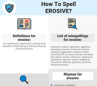 erosive, spellcheck erosive, how to spell erosive, how do you spell erosive, correct spelling for erosive