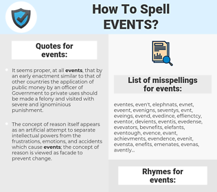 events, spellcheck events, how to spell events, how do you spell events, correct spelling for events