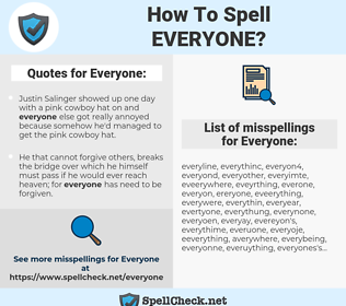 Everyone, spellcheck Everyone, how to spell Everyone, how do you spell Everyone, correct spelling for Everyone