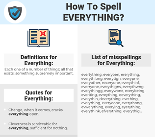 Everything, spellcheck Everything, how to spell Everything, how do you spell Everything, correct spelling for Everything