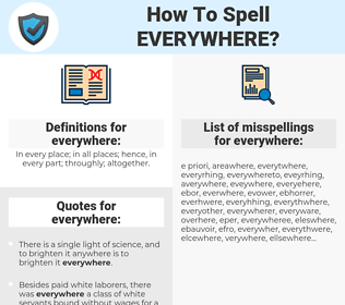 everywhere, spellcheck everywhere, how to spell everywhere, how do you spell everywhere, correct spelling for everywhere