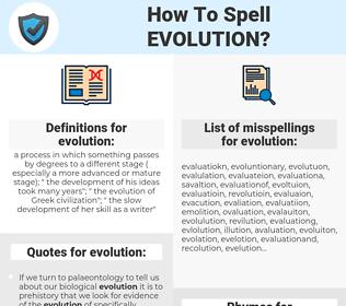 evolution, spellcheck evolution, how to spell evolution, how do you spell evolution, correct spelling for evolution