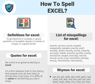 excel, spellcheck excel, how to spell excel, how do you spell excel, correct spelling for excel