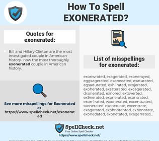 exonerated, spellcheck exonerated, how to spell exonerated, how do you spell exonerated, correct spelling for exonerated