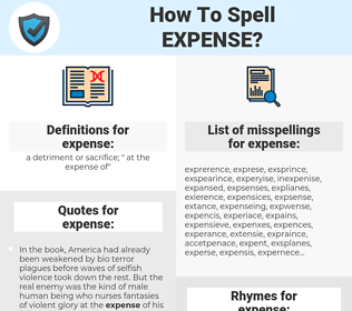 expense, spellcheck expense, how to spell expense, how do you spell expense, correct spelling for expense