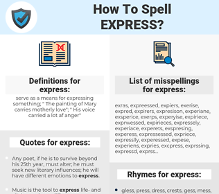express, spellcheck express, how to spell express, how do you spell express, correct spelling for express