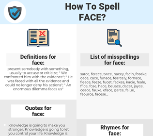 face, spellcheck face, how to spell face, how do you spell face, correct spelling for face