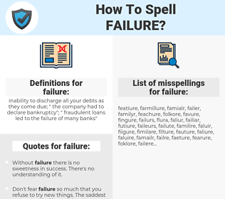 failure, spellcheck failure, how to spell failure, how do you spell failure, correct spelling for failure