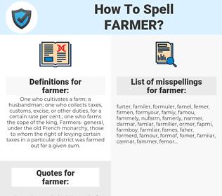 farmer, spellcheck farmer, how to spell farmer, how do you spell farmer, correct spelling for farmer