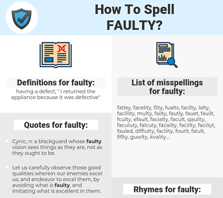 faulty, spellcheck faulty, how to spell faulty, how do you spell faulty, correct spelling for faulty