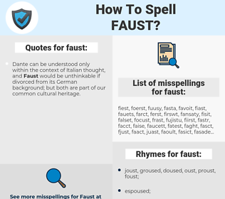 faust, spellcheck faust, how to spell faust, how do you spell faust, correct spelling for faust