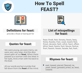 feast, spellcheck feast, how to spell feast, how do you spell feast, correct spelling for feast