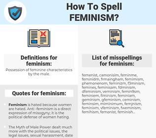 feminism, spellcheck feminism, how to spell feminism, how do you spell feminism, correct spelling for feminism