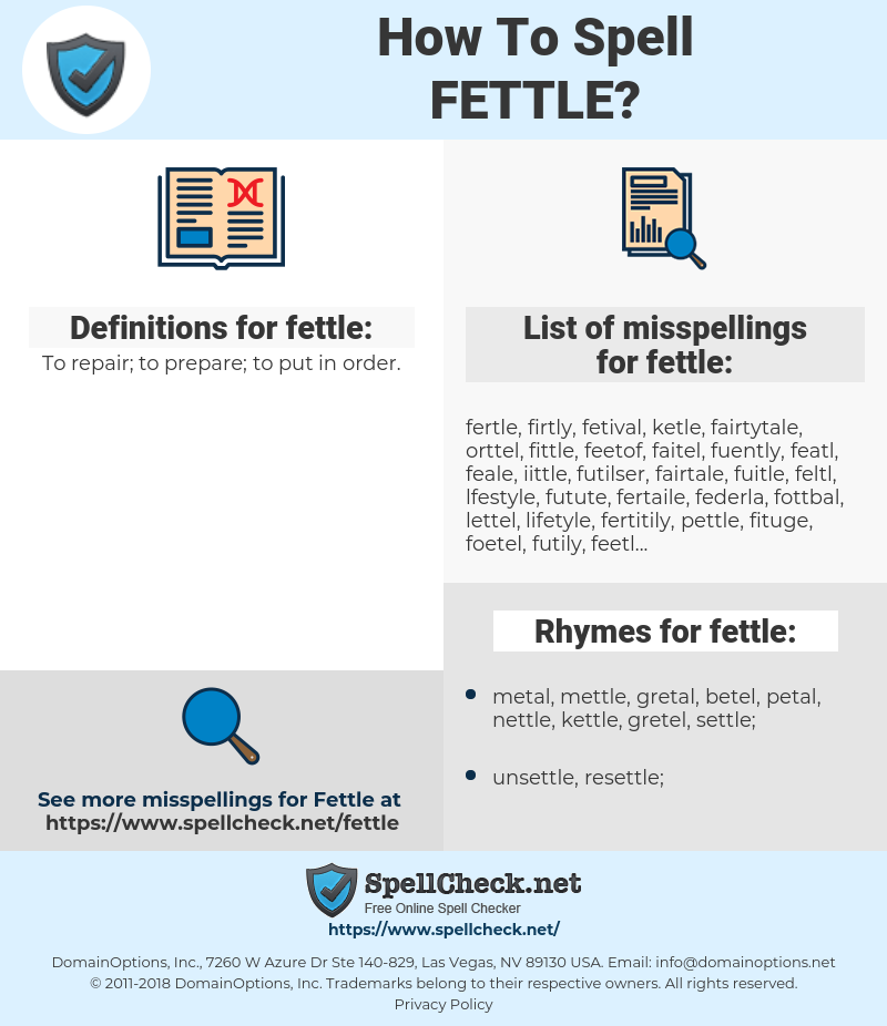 fettle, spellcheck fettle, how to spell fettle, how do you spell fettle, correct spelling for fettle