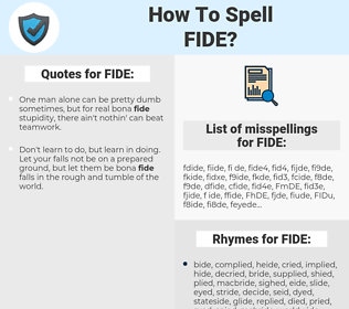 FIDE, spellcheck FIDE, how to spell FIDE, how do you spell FIDE, correct spelling for FIDE