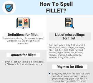 fillet, spellcheck fillet, how to spell fillet, how do you spell fillet, correct spelling for fillet