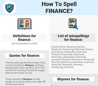 finance, spellcheck finance, how to spell finance, how do you spell finance, correct spelling for finance