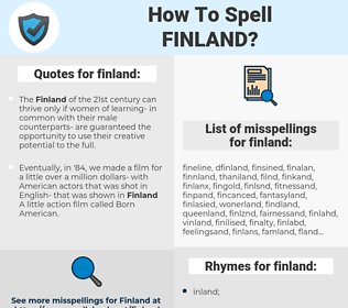 finland, spellcheck finland, how to spell finland, how do you spell finland, correct spelling for finland