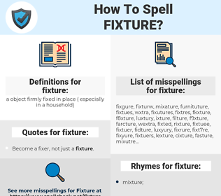 fixture, spellcheck fixture, how to spell fixture, how do you spell fixture, correct spelling for fixture