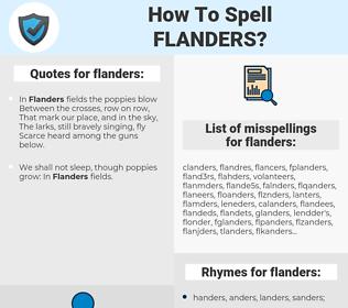 flanders, spellcheck flanders, how to spell flanders, how do you spell flanders, correct spelling for flanders