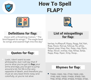 flap, spellcheck flap, how to spell flap, how do you spell flap, correct spelling for flap