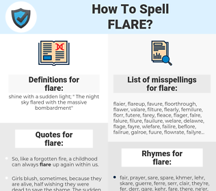 flare, spellcheck flare, how to spell flare, how do you spell flare, correct spelling for flare