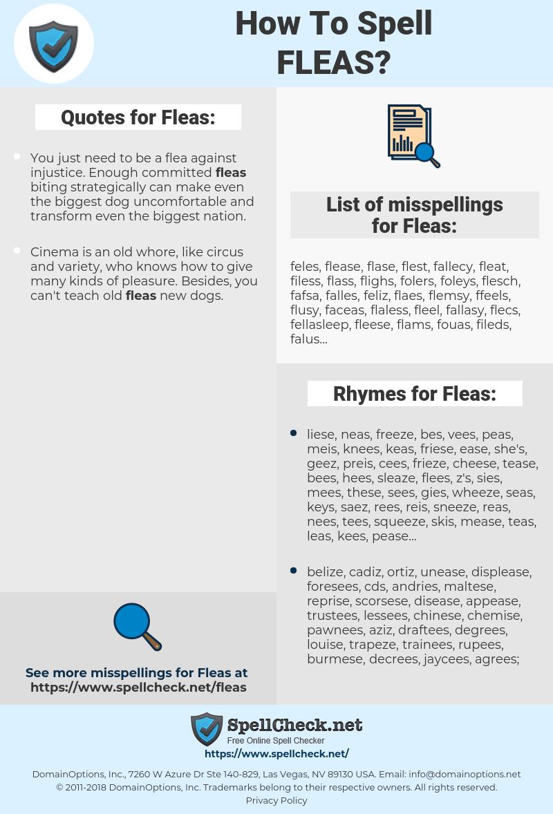 Fleas, spellcheck Fleas, how to spell Fleas, how do you spell Fleas, correct spelling for Fleas