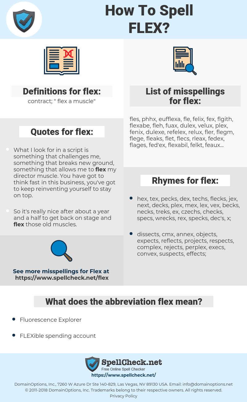flex, spellcheck flex, how to spell flex, how do you spell flex, correct spelling for flex