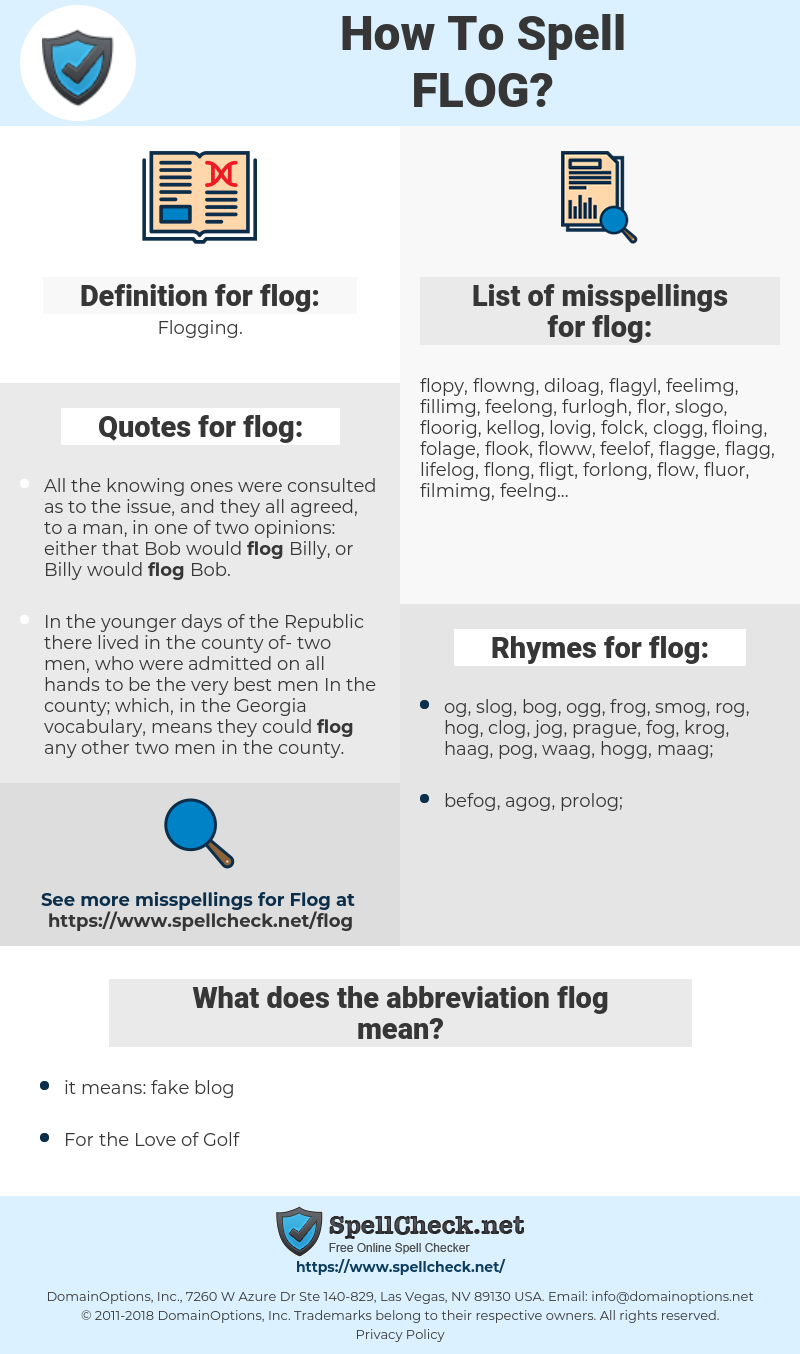 flog, spellcheck flog, how to spell flog, how do you spell flog, correct spelling for flog