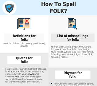 folk, spellcheck folk, how to spell folk, how do you spell folk, correct spelling for folk