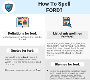 ford, spellcheck ford, how to spell ford, how do you spell ford, correct spelling for ford