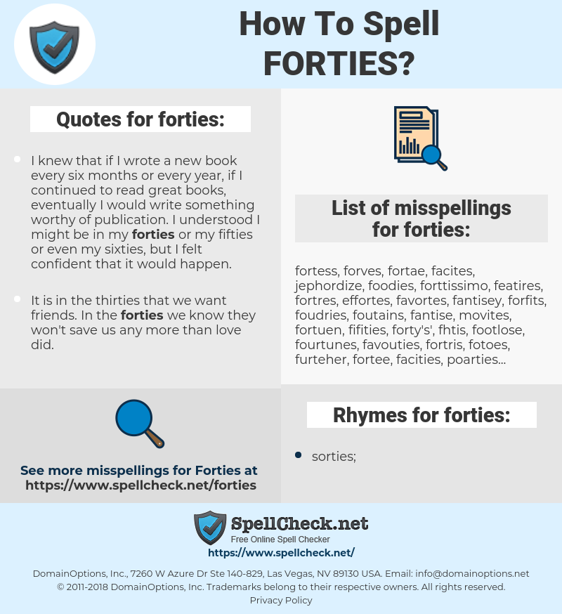 forties, spellcheck forties, how to spell forties, how do you spell forties, correct spelling for forties