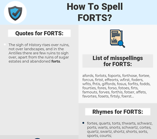 FORTS, spellcheck FORTS, how to spell FORTS, how do you spell FORTS, correct spelling for FORTS