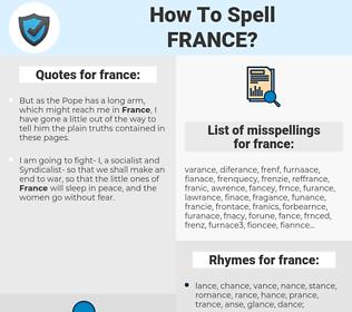 france, spellcheck france, how to spell france, how do you spell france, correct spelling for france
