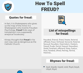 freud, spellcheck freud, how to spell freud, how do you spell freud, correct spelling for freud