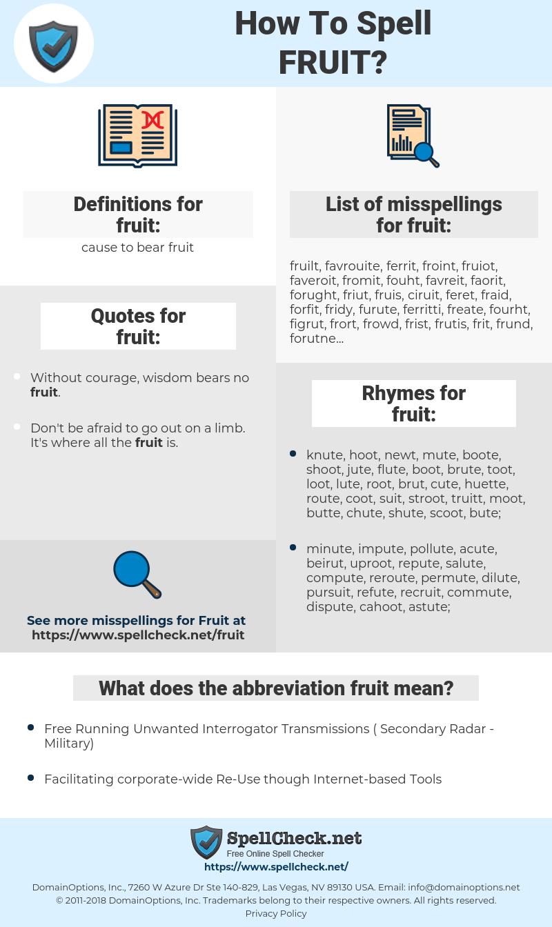 fruit, spellcheck fruit, how to spell fruit, how do you spell fruit, correct spelling for fruit
