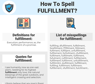 fulfillment, spellcheck fulfillment, how to spell fulfillment, how do you spell fulfillment, correct spelling for fulfillment
