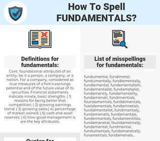 fundamentals, spellcheck fundamentals, how to spell fundamentals, how do you spell fundamentals, correct spelling for fundamentals