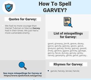 Garvey, spellcheck Garvey, how to spell Garvey, how do you spell Garvey, correct spelling for Garvey