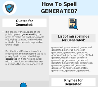 Generated, spellcheck Generated, how to spell Generated, how do you spell Generated, correct spelling for Generated