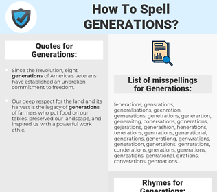 Generations, spellcheck Generations, how to spell Generations, how do you spell Generations, correct spelling for Generations