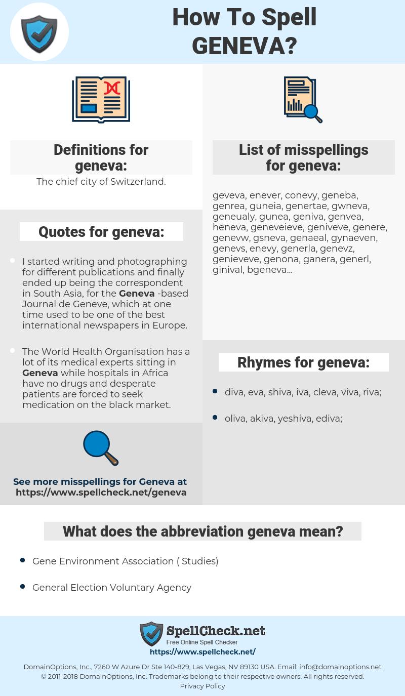 geneva, spellcheck geneva, how to spell geneva, how do you spell geneva, correct spelling for geneva