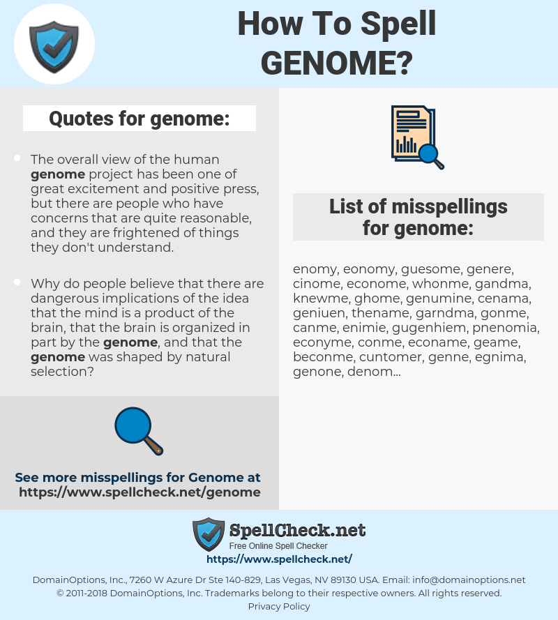 genome, spellcheck genome, how to spell genome, how do you spell genome, correct spelling for genome
