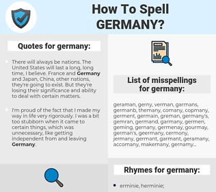 germany, spellcheck germany, how to spell germany, how do you spell germany, correct spelling for germany