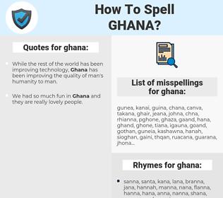 ghana, spellcheck ghana, how to spell ghana, how do you spell ghana, correct spelling for ghana